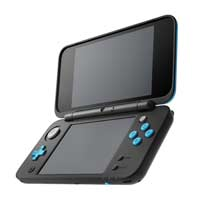 Image for Nintendo 2DS XL Game System: Black and Turquoise from Pokemon Center