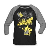 Image for Electric Rock Raglan Baseball Shirt - Adult from Pokémon Center
