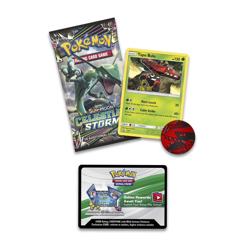 Pokémon TCG: Sun & Moon-Celestial Storm Booster Pack, Coin & Tapu Bulu  Promo Card