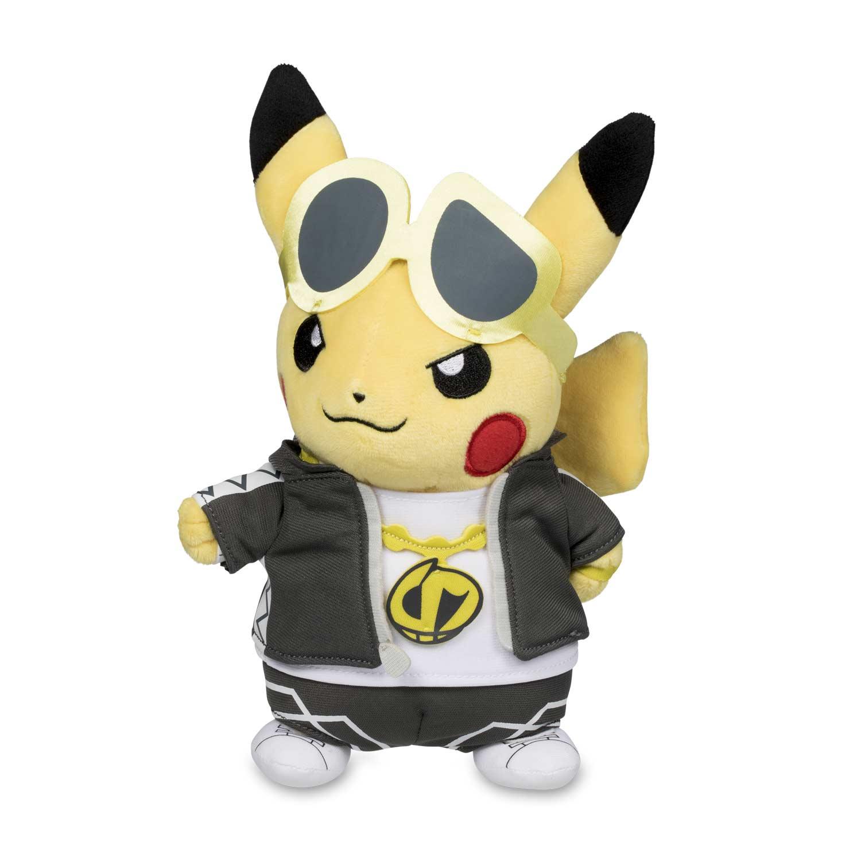 "Pokemon Center Poke 8/"" Pikachu in Team Skull Costume Poké Plush Standard Size"