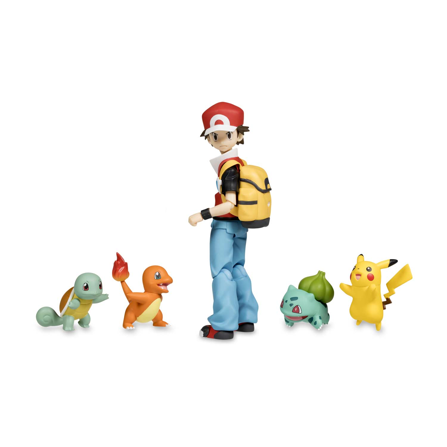 323ab3c6 Image for figma: Red Posable Figure with Pikachu, Bulbasaur, Charmander &  Squirtle from