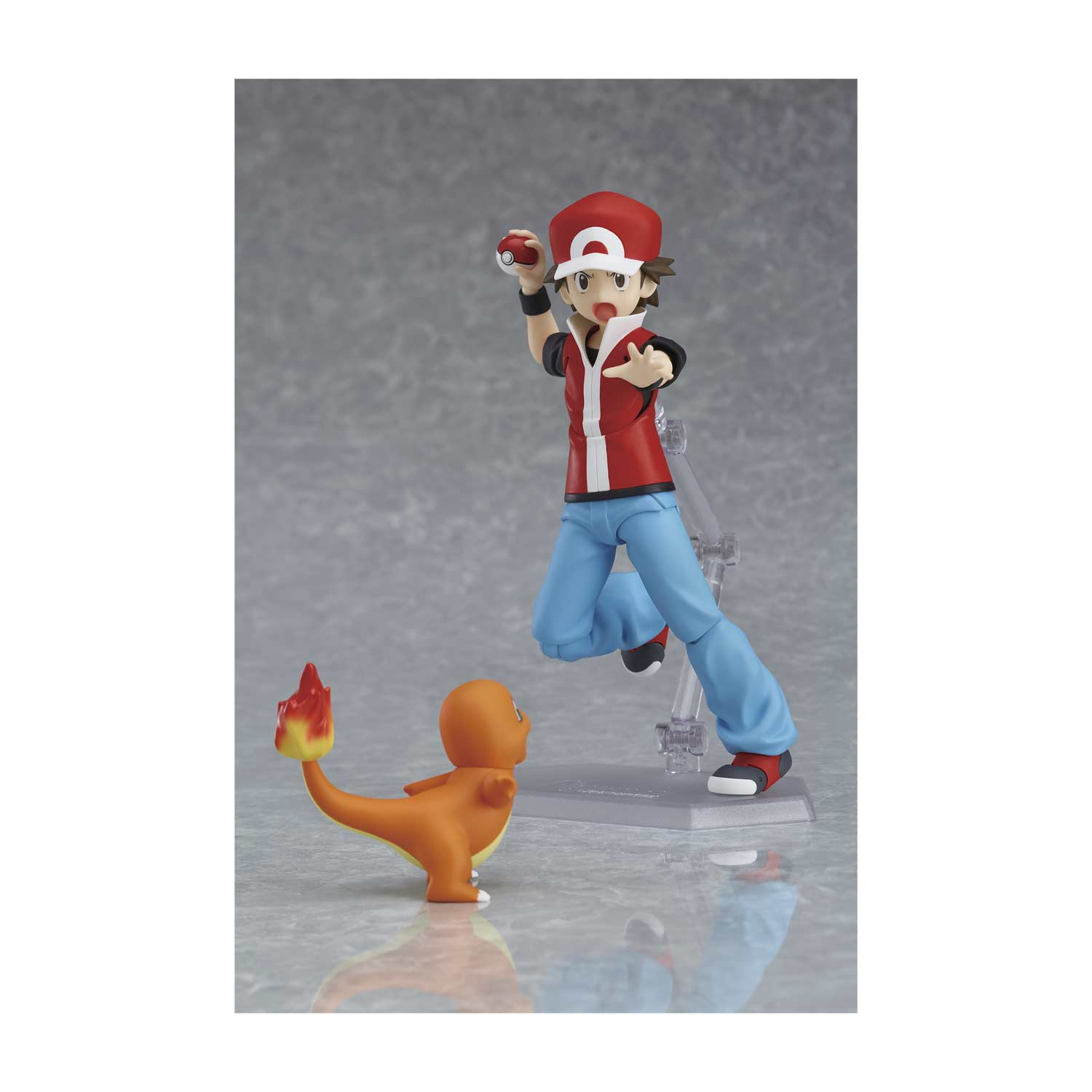 337cf6b4 ... Image for figma: Red Posable Figure with Pikachu, Bulbasaur, Charmander  & Squirtle from ...