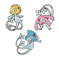 Uxie, Mesprit & Azelf Pokémon Pins (3-Pack)