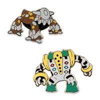 Heatran & Regigigas Pokémon Pins (2-Pack)