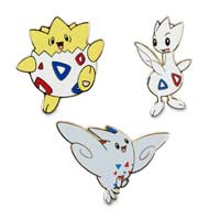 Togepi, Togetic & Togekiss Pokémon Pins (3-Pack)