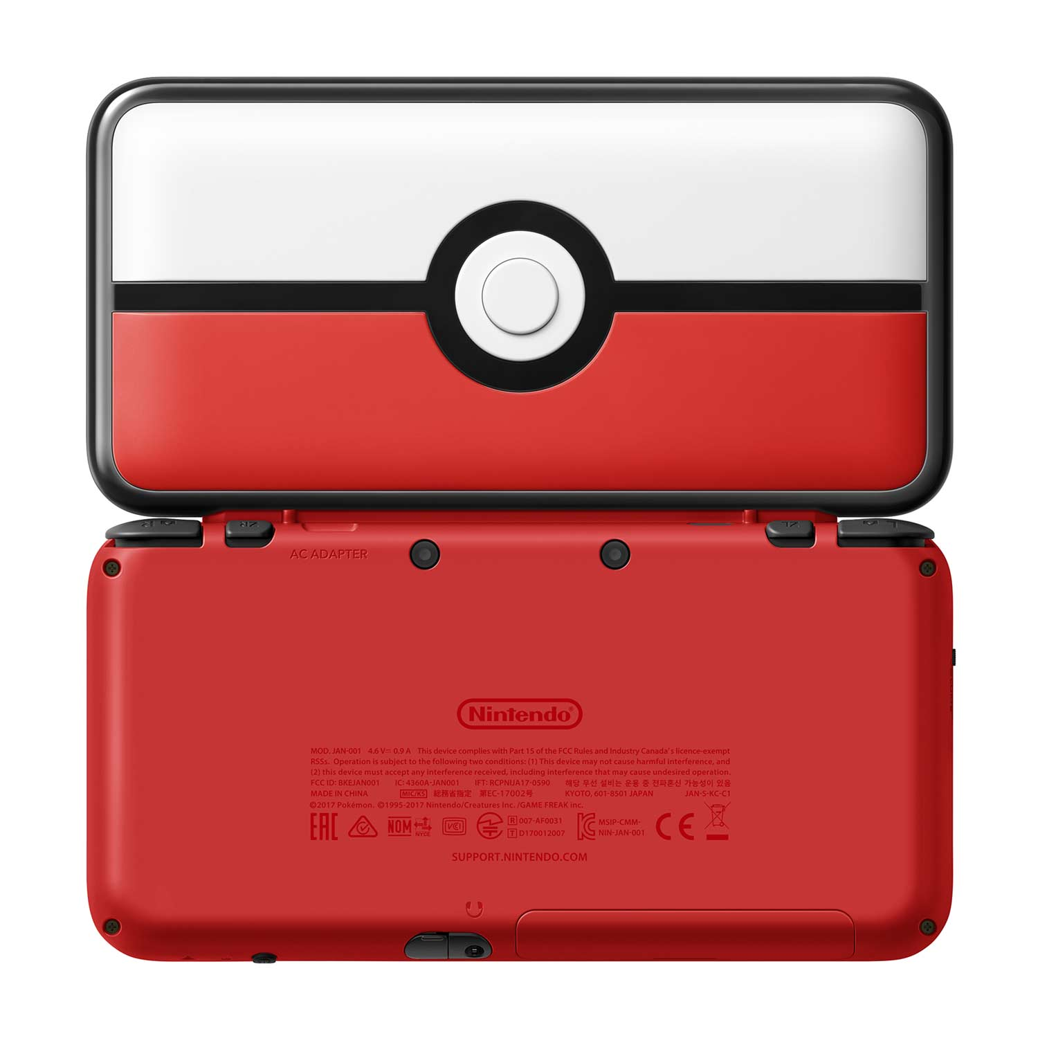 New nintendo 2ds xl pok ball edition for Housse 2ds xl pokemon