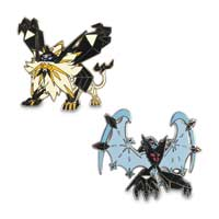 Dusk Mane Necrozma & Dawn Wings Necrozma Pokémon Pins (2-Pack)