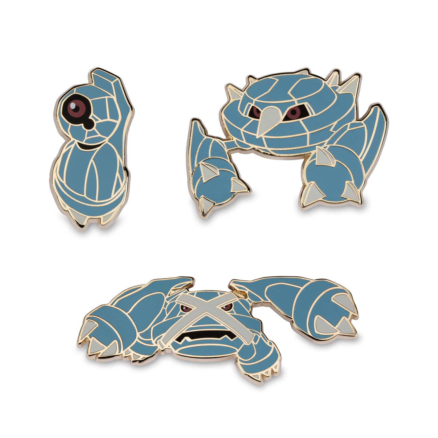 Beldum Metang Metagross Pokémon Pins 3 Pack