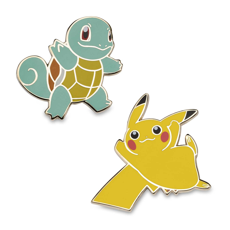 Squirtle Pikachu Pokemon Pins 2 Pack Pokemon Center Original