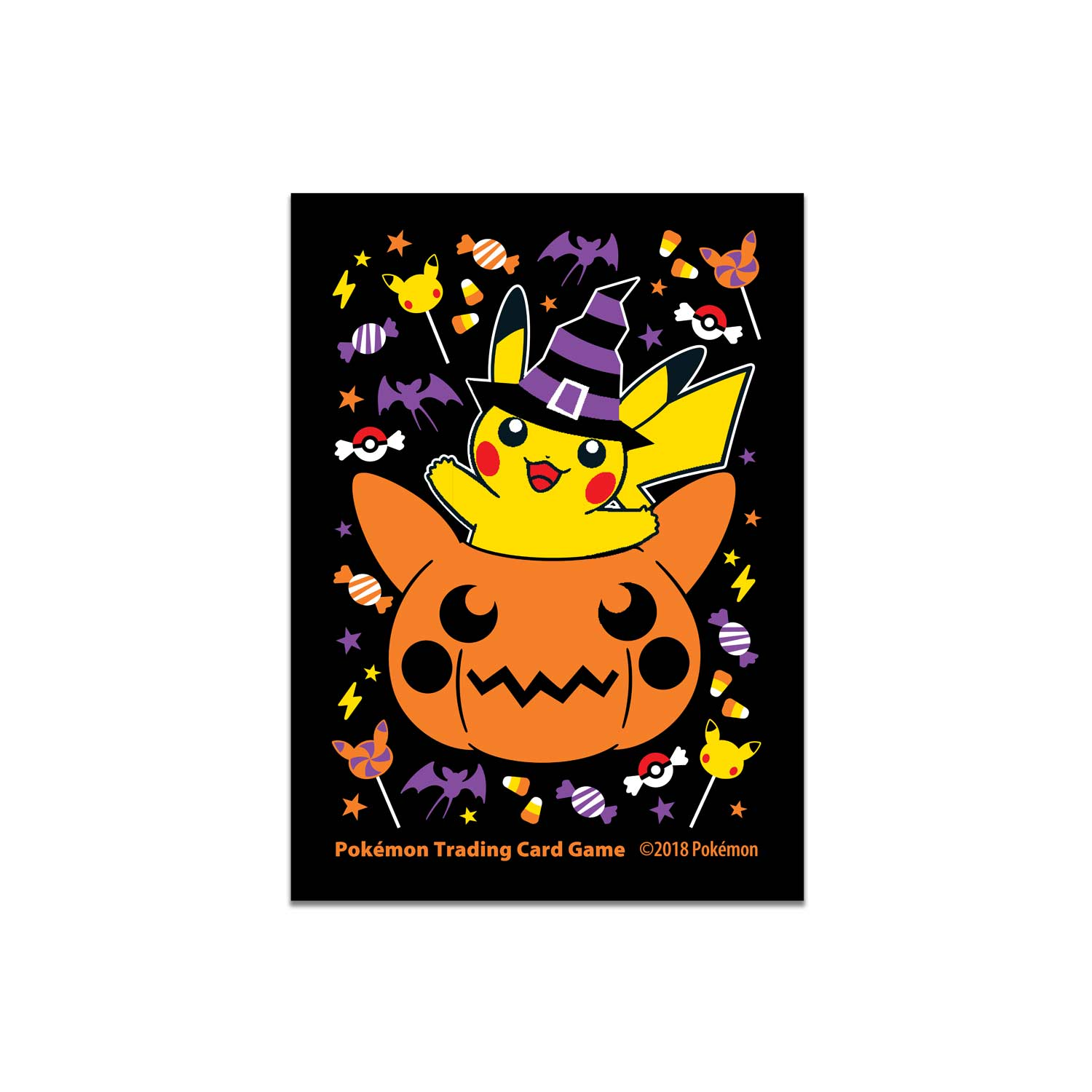 image for pokmon tcg pumpkin pikachu halloween card sleeves 65 sleeves from pokemon