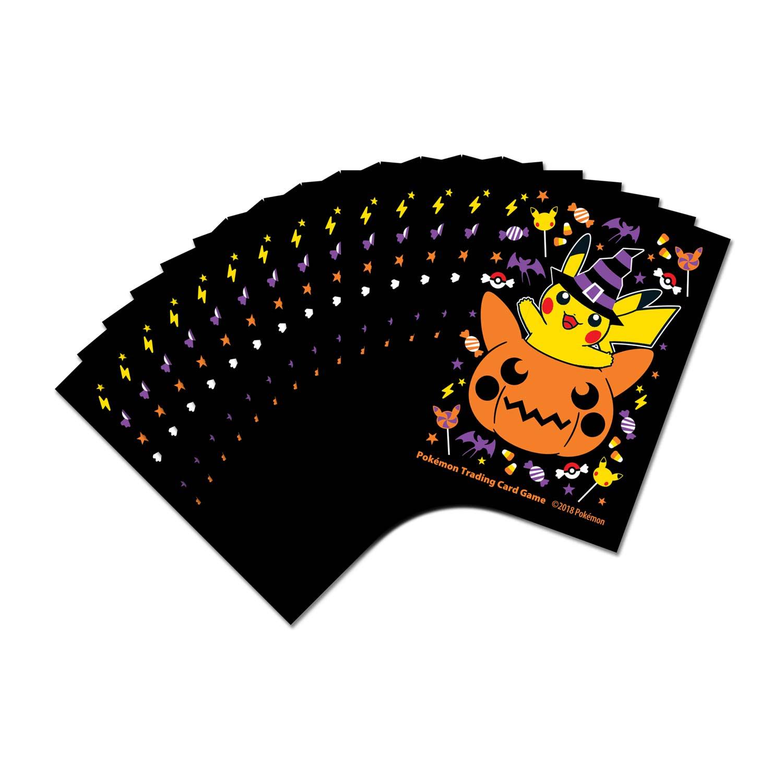 Pokmon Tcg Pumpkin Pikachu Halloween Card Sleeves 65 Sleeves