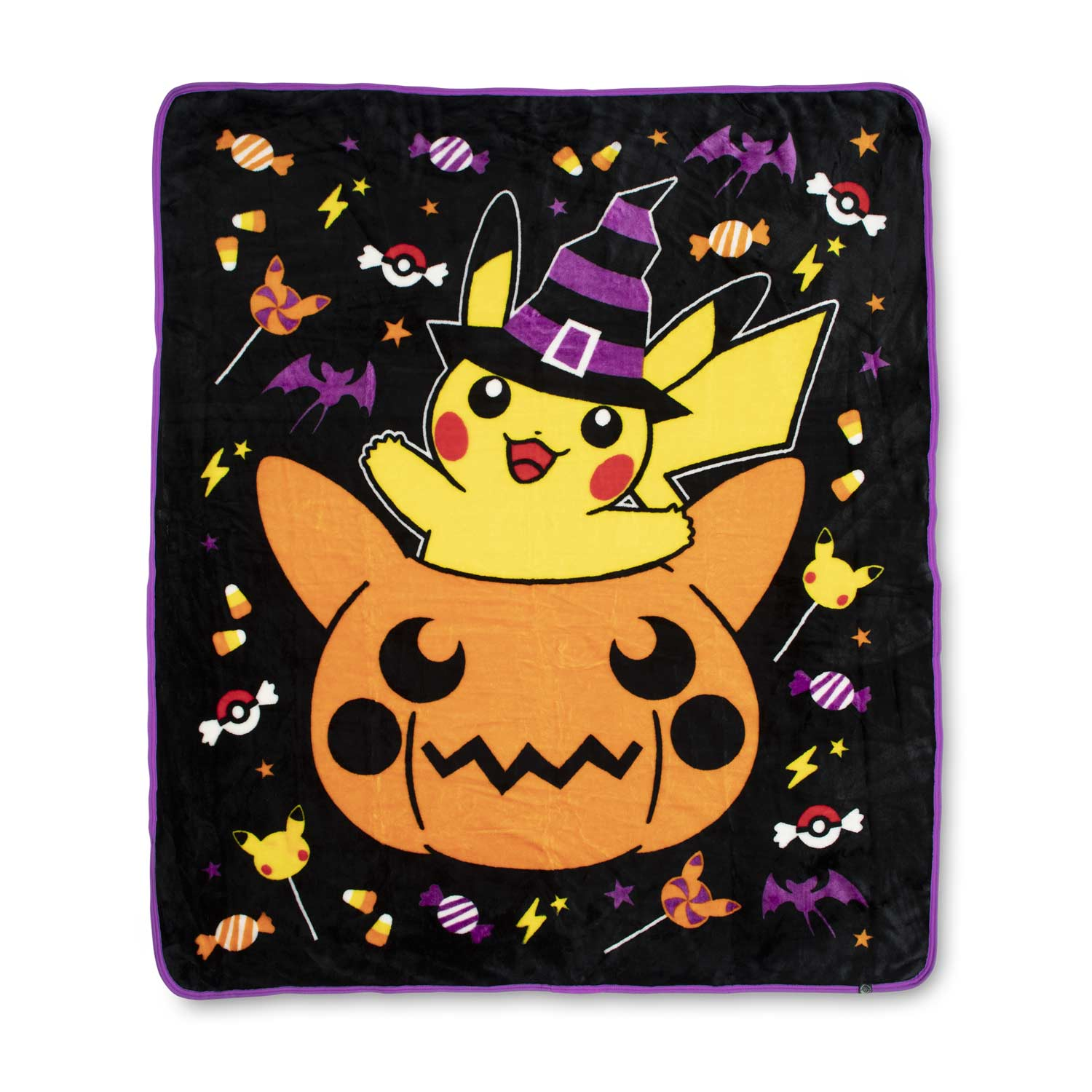image for pumpkin pikachu halloween fleece throw 50 in by 60 in from