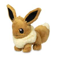 Image for Sitting Eevee Fluffy Plush - 8 In. from Pokemon Center