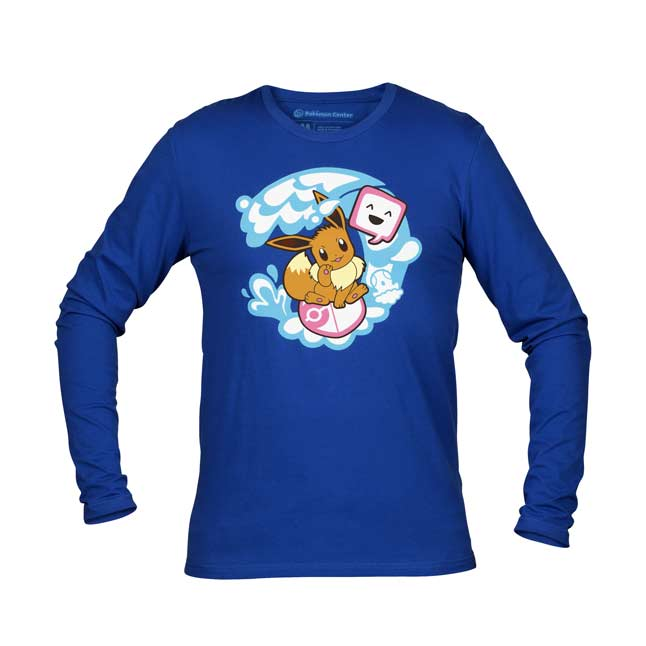 Image for Exploring with Eevee Fitted Long-Sleeve T-Shirt - Adult from Pokémon Center