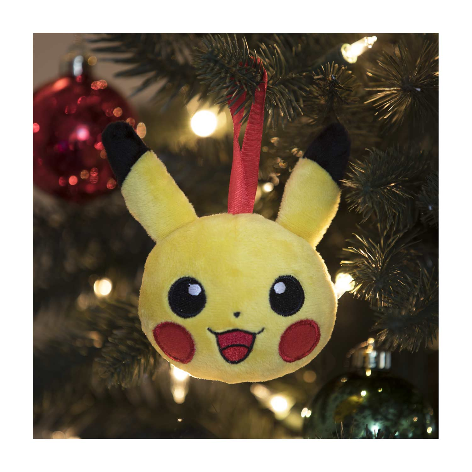 Pikachu Christmas Ornament.Pikachu Holiday Plush Ornaments 4 Pack