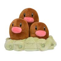 Image for Dugtrio Sitting Cuties Plush - 5 In. from Pokemon Center