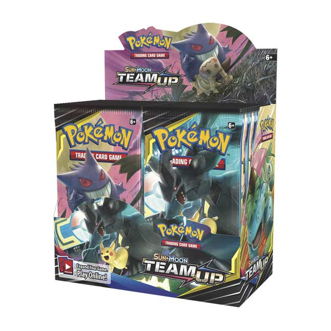 Image for Pokémon TCG: Sun & Moon-Team Up Booster Display Box (36 Booster Packs) from Pokémon Center
