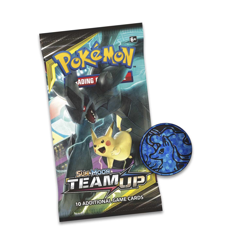 Pokemon TCG Team Up Blister Pack Ultra Necrozma Promo 3 Booster Packs