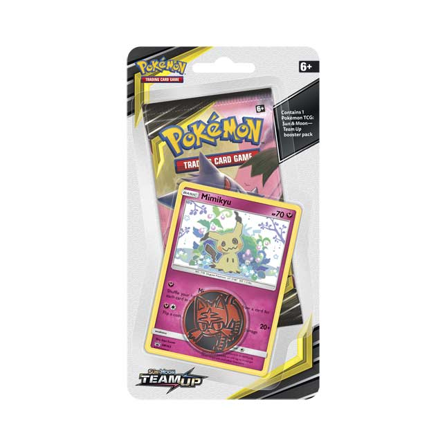 Image for Pokémon TCG: Sun & Moon-Team Up Booster Pack, Coin & Mimikyu Promo Card from Pokemon Center