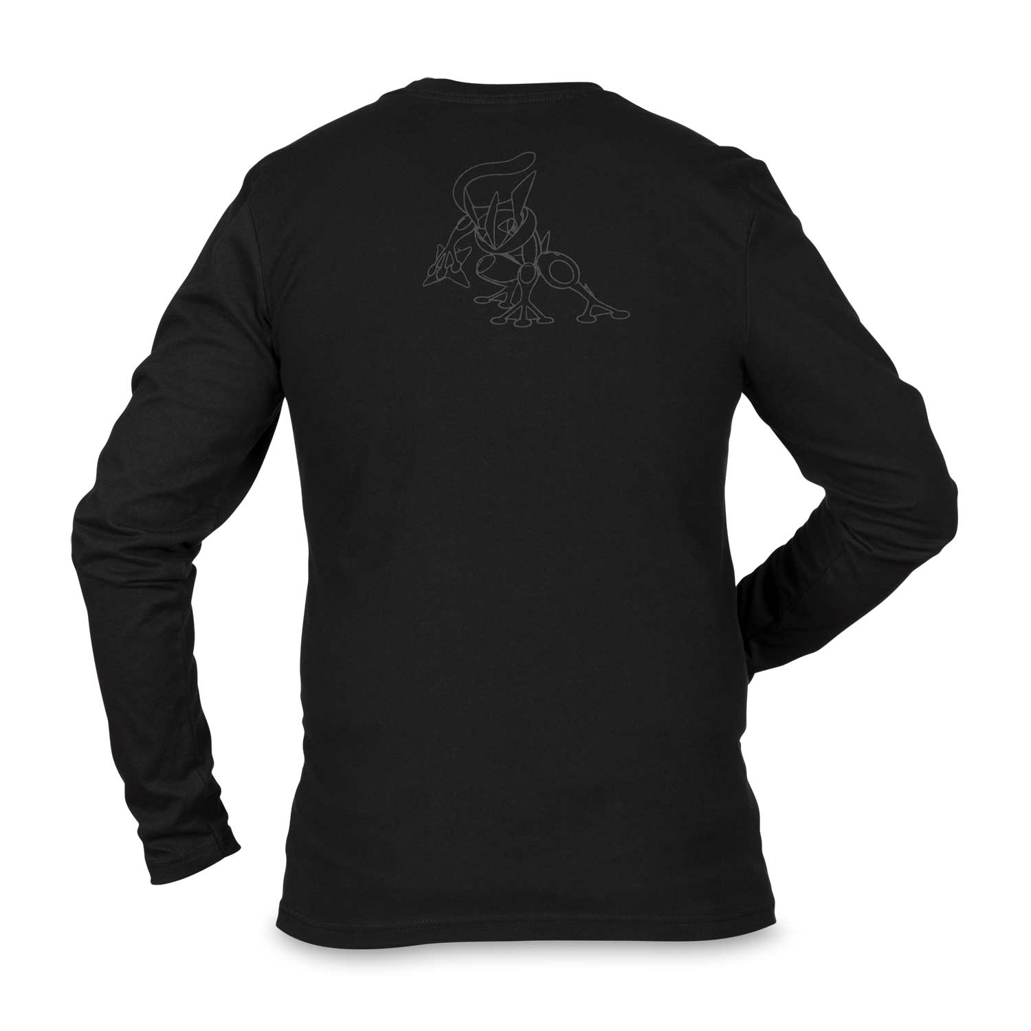 13983db98ea749 Image for Greninja Stealth Fitted Long-Sleeve Crew Neck T-Shirt - Adult from