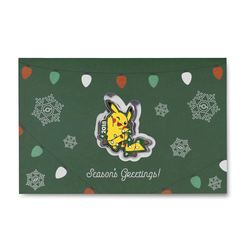 Pikachu Holiday 2018 Pokmon Pin Greeting Card Pokmon Center