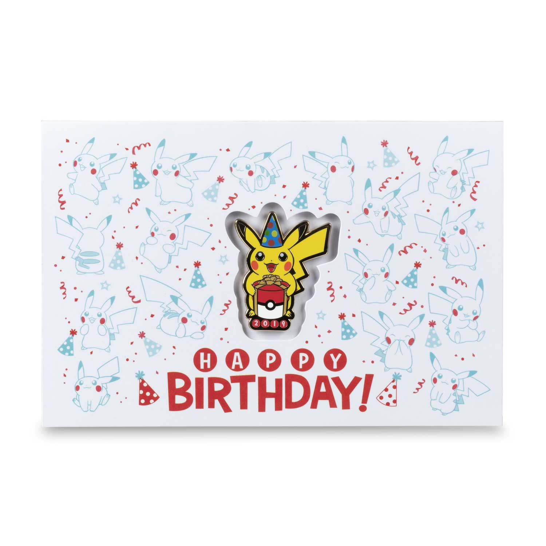 Birthday Pikachu Card - Card Design Template