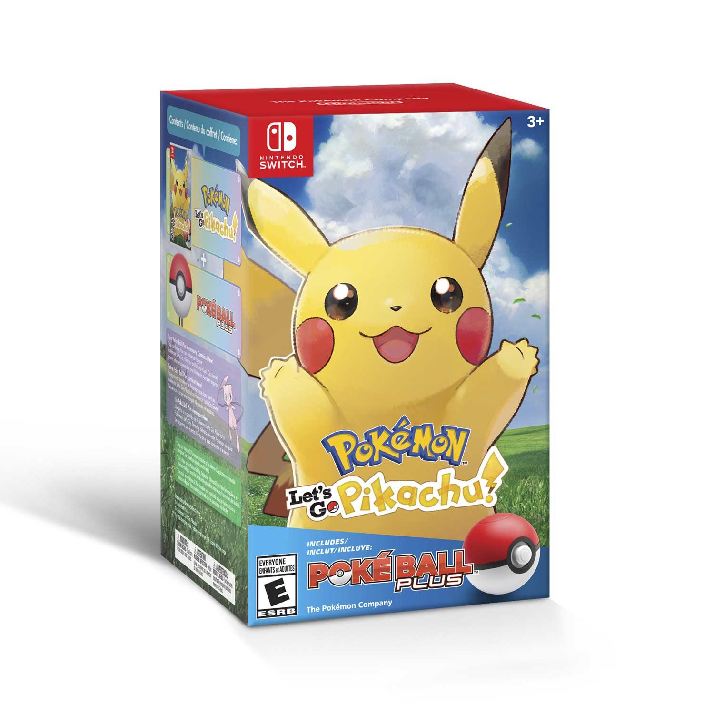 Pokemon Let S Go Pikachu Poke Ball Plus Pack For Nintendo