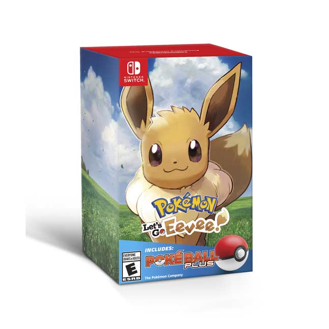 Image for Pokémon: Let's Go, Eevee! + Poké Ball Plus Pack for Nintendo Switch from Pokémon Center