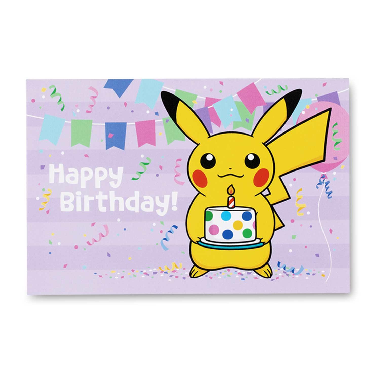 pikachu greeting card set  6 birthday  2 thank you  u0026 4 blank cards with envelopes