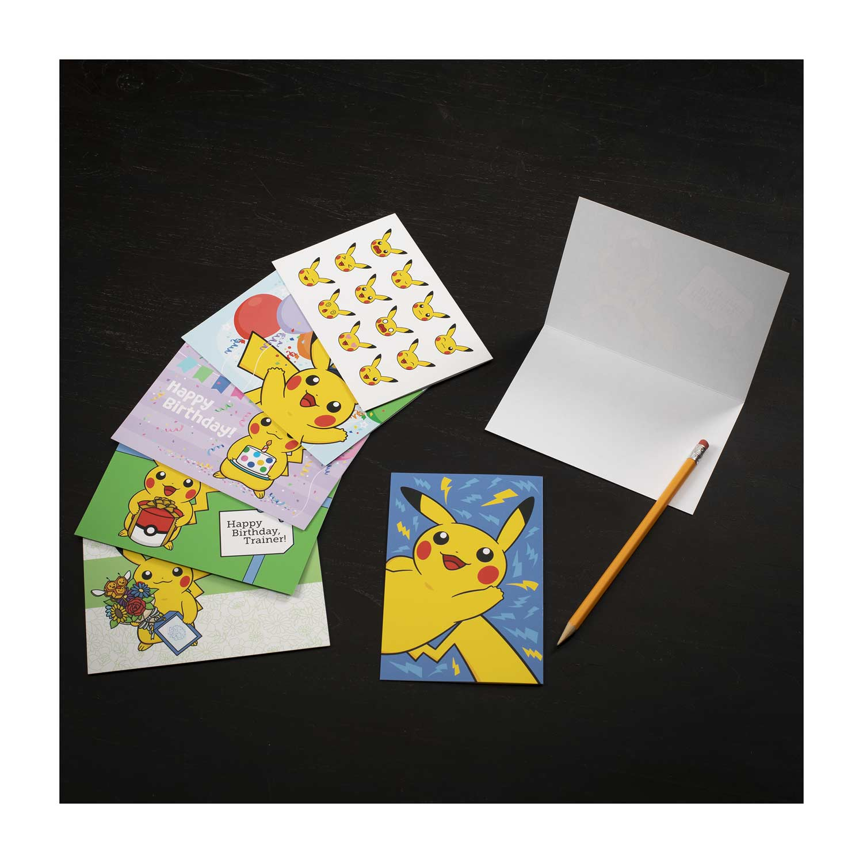 Pikachu Greeting Card Set (6 Birthday, 2 Thank You & 4
