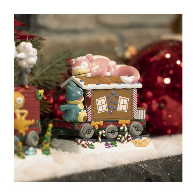 Image for Delibird Holiday Express Slowpoke Caboose Figure from Pokemon Center