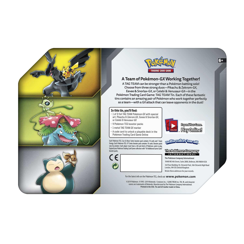 Pokémon Tcg Tag Team Tin Pikachu Zekrom Gx Pokémon Center
