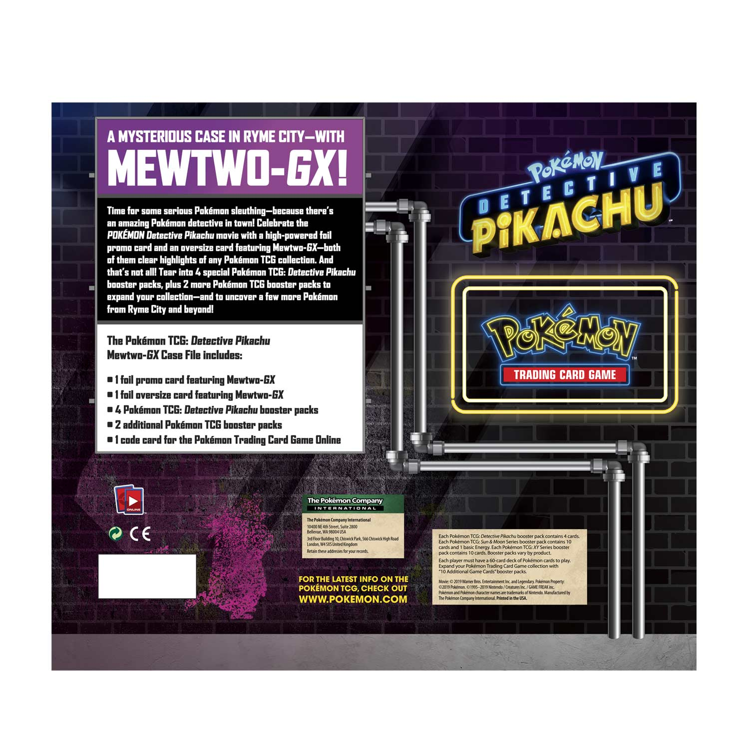 Pokemon Tcg Detective Pikachu Mewtwo Gx Case File Pokemon