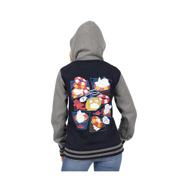 Image for Psyduck Bewildered Fleece Varsity Hoodie - Adult from Pokemon Center