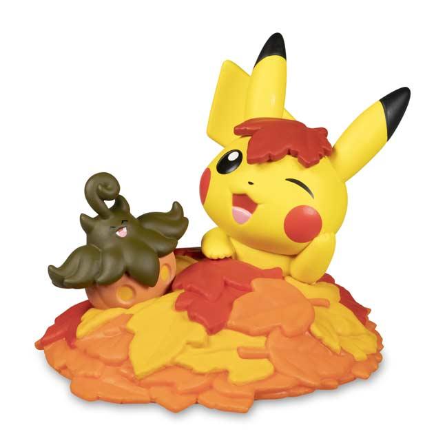 Pokemon Center Original stuffed season Pikachu /& Eevee autumn