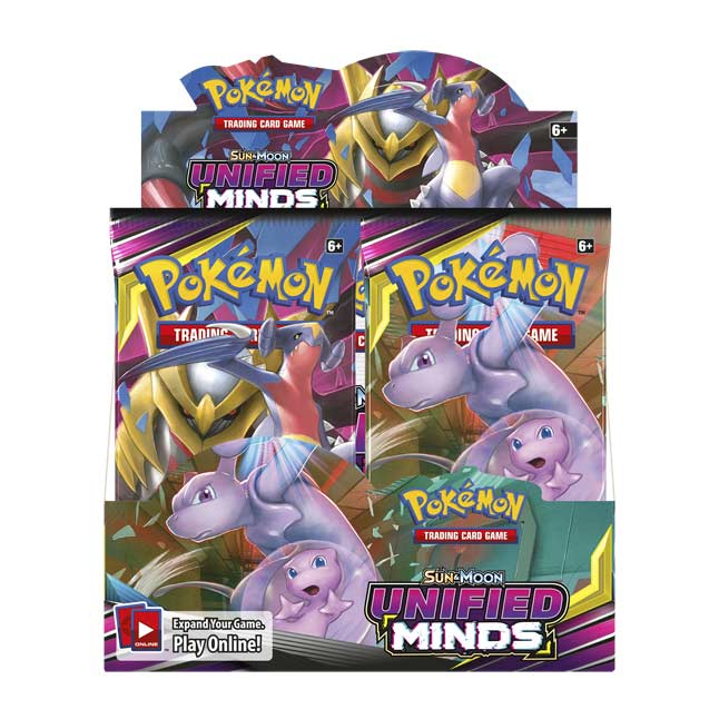 Pokemon UNIFIED MINDS Sun /& Moon Booster Pack with1 PackIN HAND