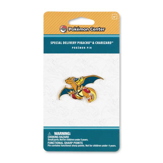 Image for Special Delivery Pikachu & Charizard Pokémon Pin from Pokemon Center
