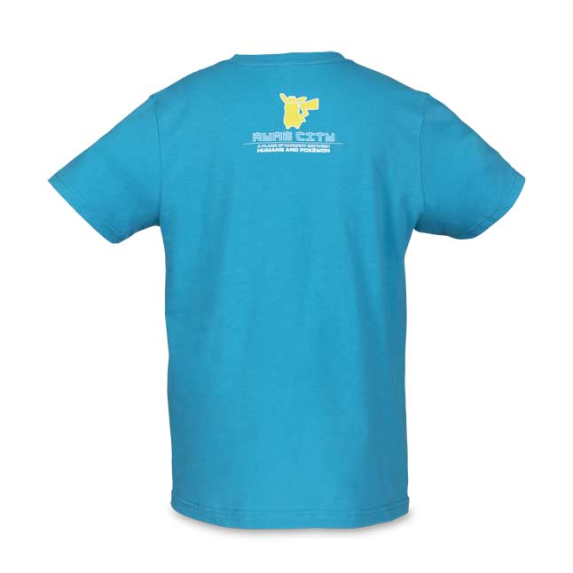 Image for POKÉMON Detective Pikachu Movie Ryme City 10-Year Parade Fitted Crew Neck T-Shirt - Youth from Pokemon Center