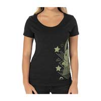 Image for Eevee Can't Wait Black Fitted Scoop Neck T-Shirt - Women from Pokemon Center