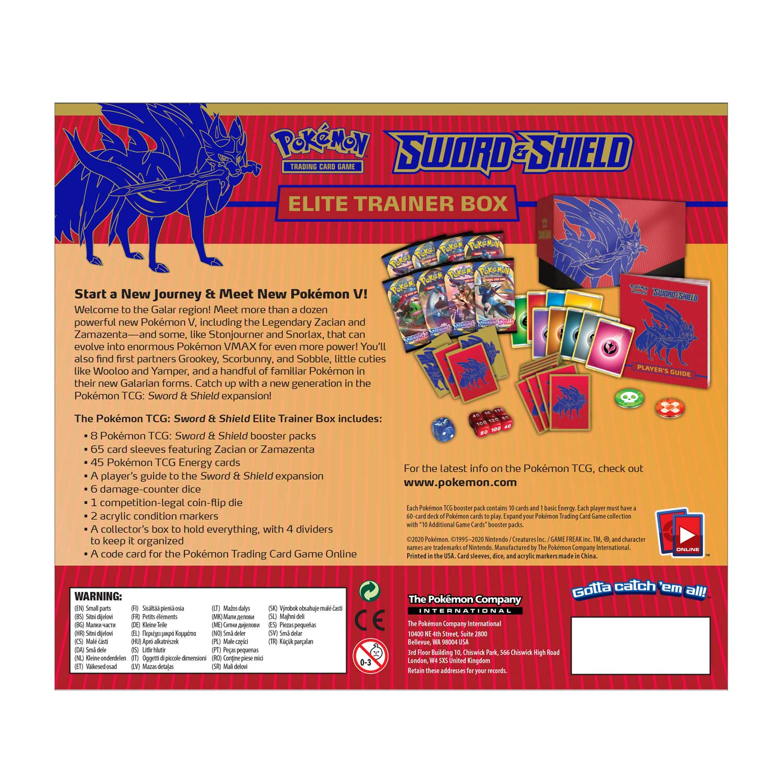 Pokemon Sword /& Shield ETB Player/'s Guide Zacian