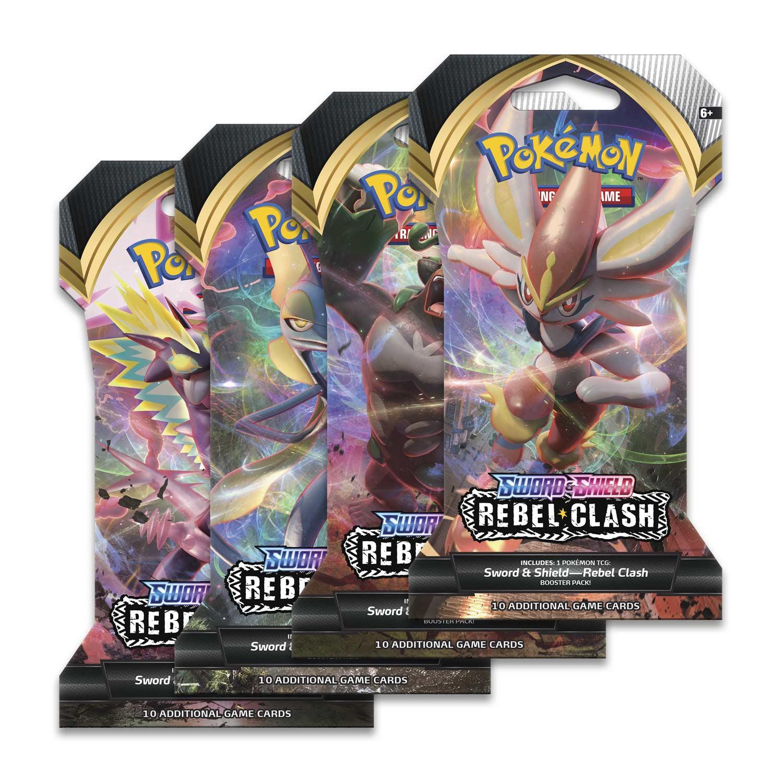 10 Cards Pokemon Rebel Clash Custom Booster Pack