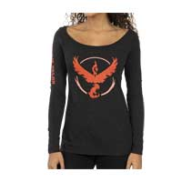 Image for Pokémon GO Team Valor Fitted Scoop Neck Long-Sleeve T-Shirt - Women from Pokémon Center