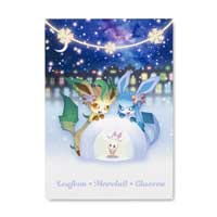 Image for Pokémon Holiday Lights Postcards (10-Pack) from Pokemon Center