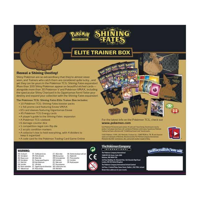 POKEMON TCG SHINNING FATES TRAINER BOX ETB! PRE-ORDER!!EEVEE V-MAX!!19//02//21!!